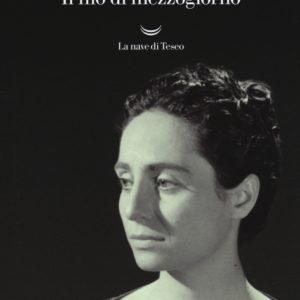 recensione copertina del libro il filo di mezzogiorno di goliarda sapienza, foto di goliarda sapienza di tre quarti su sfondo nero