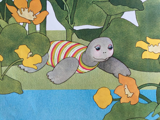Di personaggi e letteratura la tartaruga clementina sulla rive di un fiume